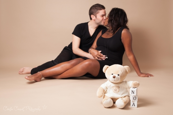 photo couple grossesse studio 77
