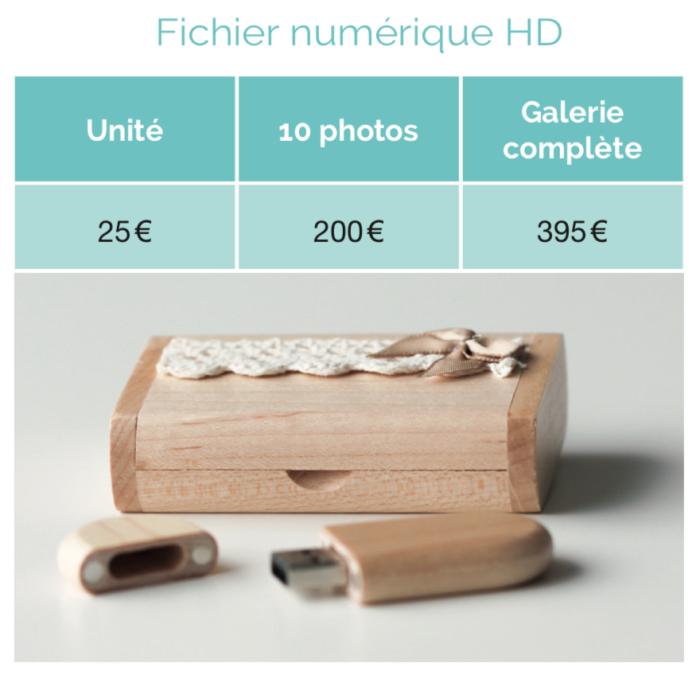 Tarifs photos numériques en HD 2018