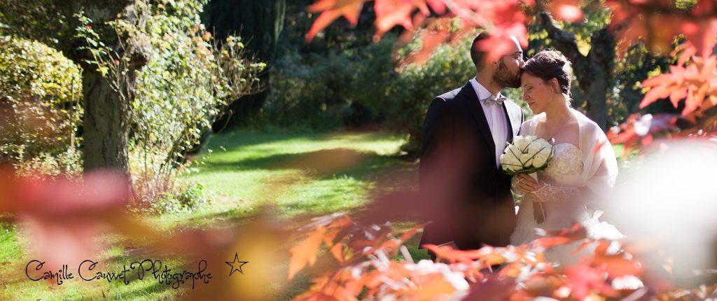 photo mariage couple automne lieusaint 77