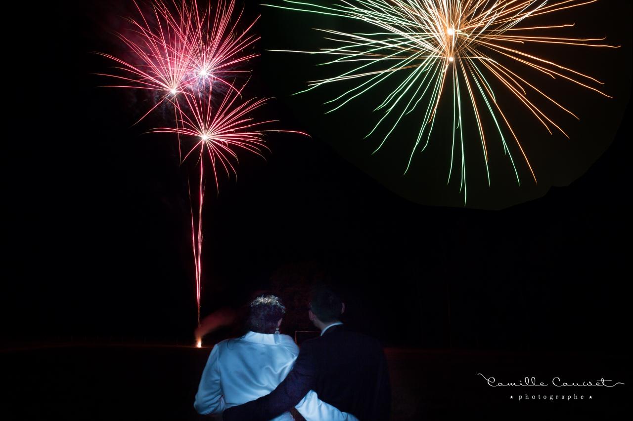 mariage feu d'artifice 77