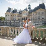 photo couple mariés chateau vaux le vicomte 77