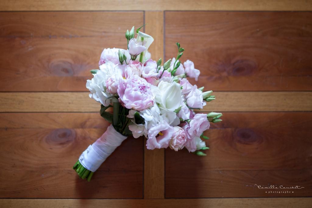 photographe mariage bouquet