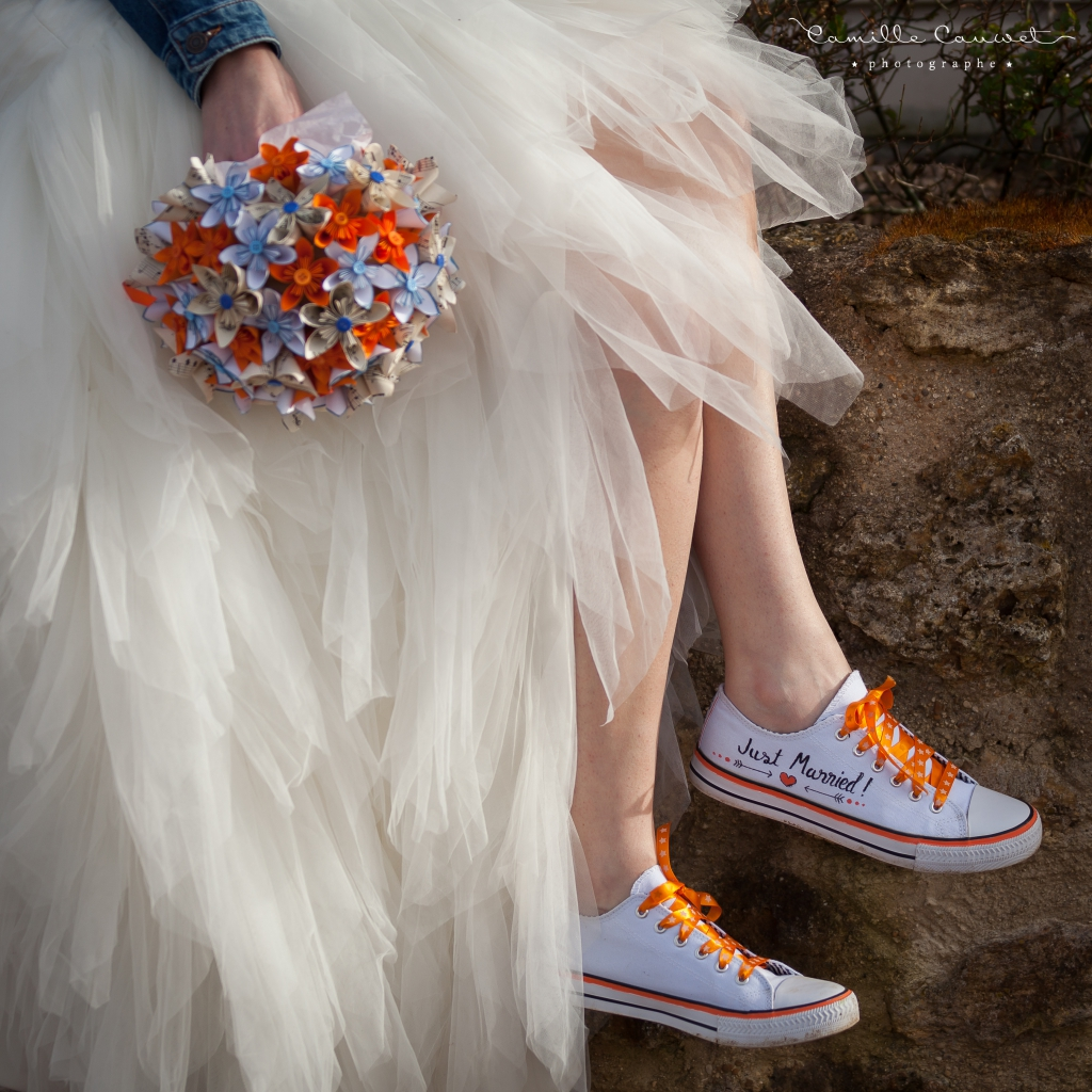 robe bouquet converse mariage 77