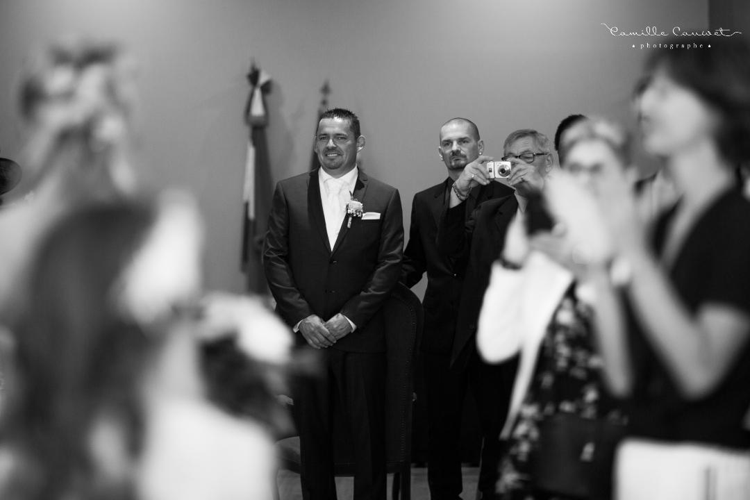 cérémonie mairie noir et blanc