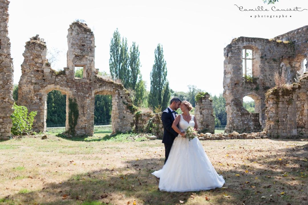 mariés chateau ruines 77