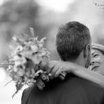mariés noir et blanc 77