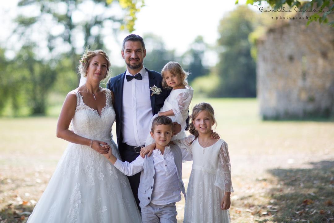 mariés famille ruines château 77