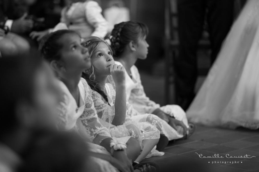 noir et blanc enfants cérémonie