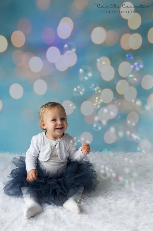 bébé portrait bulles