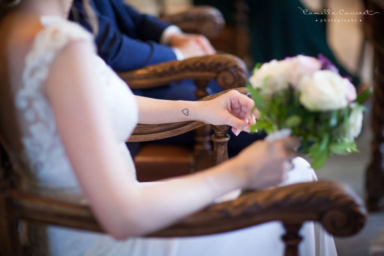mariage tatouage coeur mariée