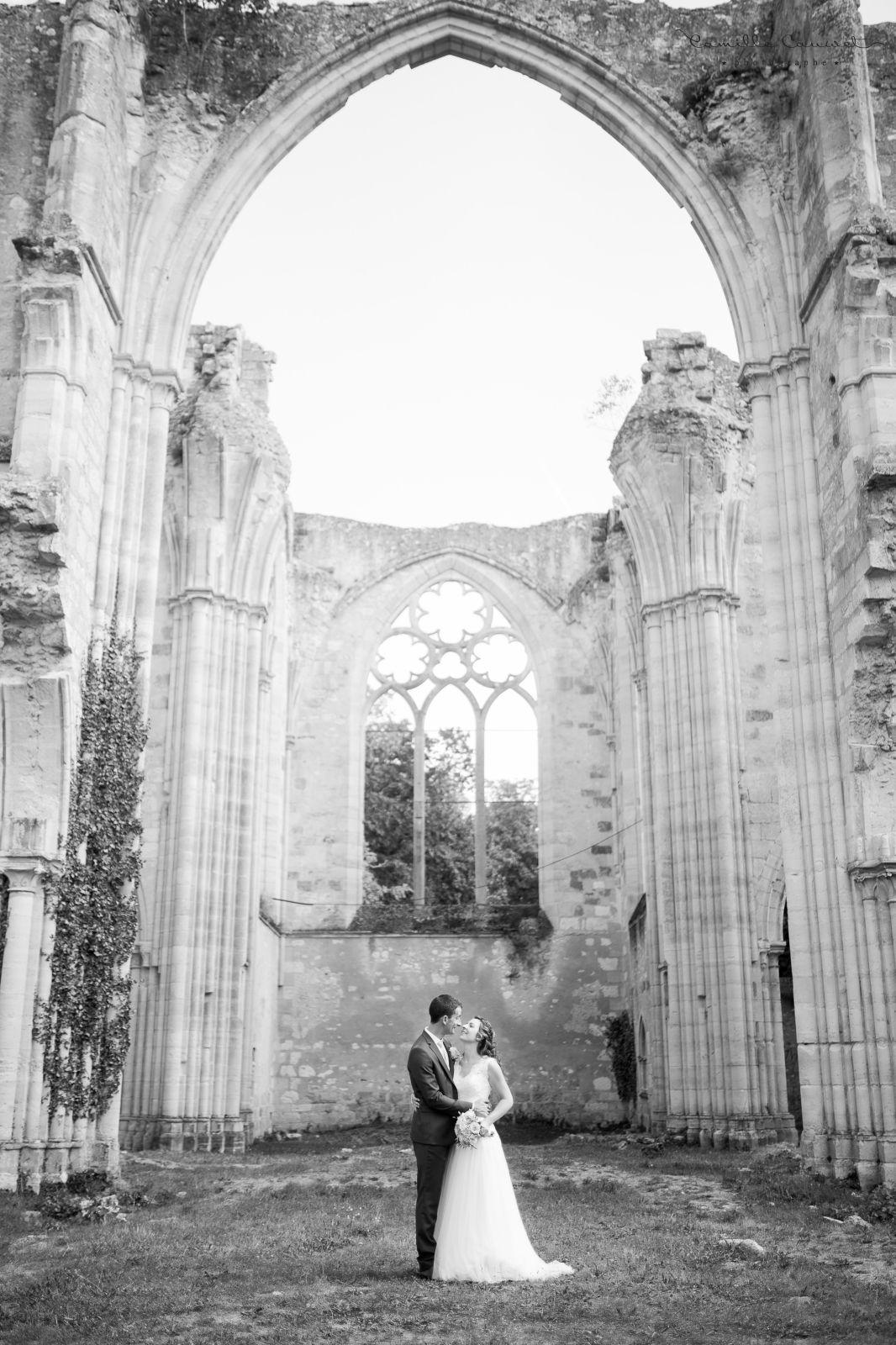 couple mariés ruines dammarie 77