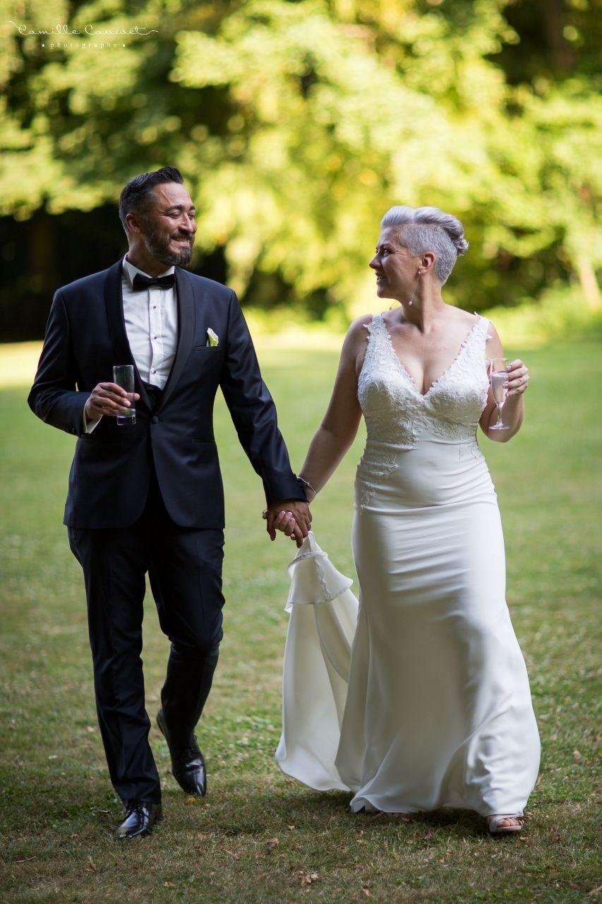 couple mariés champagne