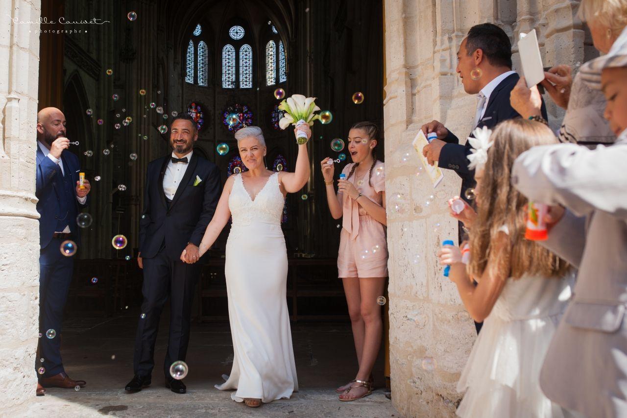 mariés sortie d'église