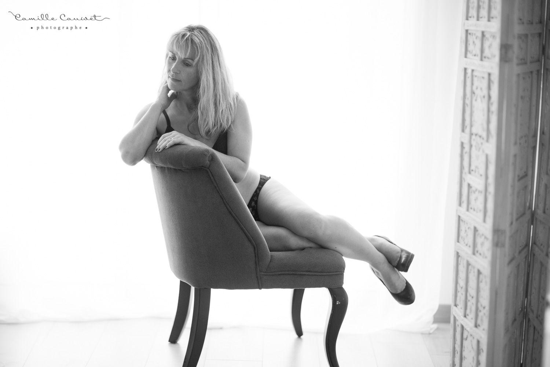 femme boudoir n&b