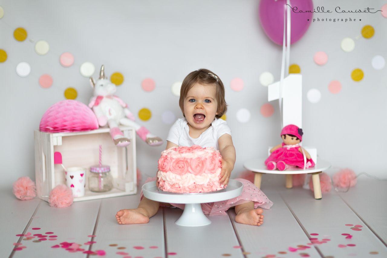 fille anniversaire gateau
