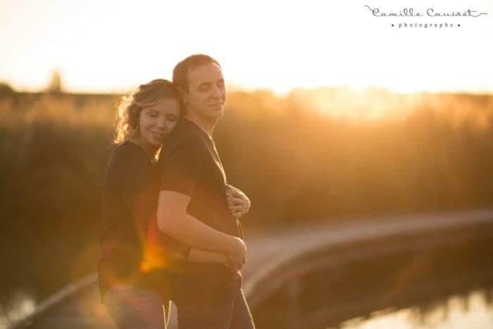 photo de couple au coucher du soleil à moissy 77