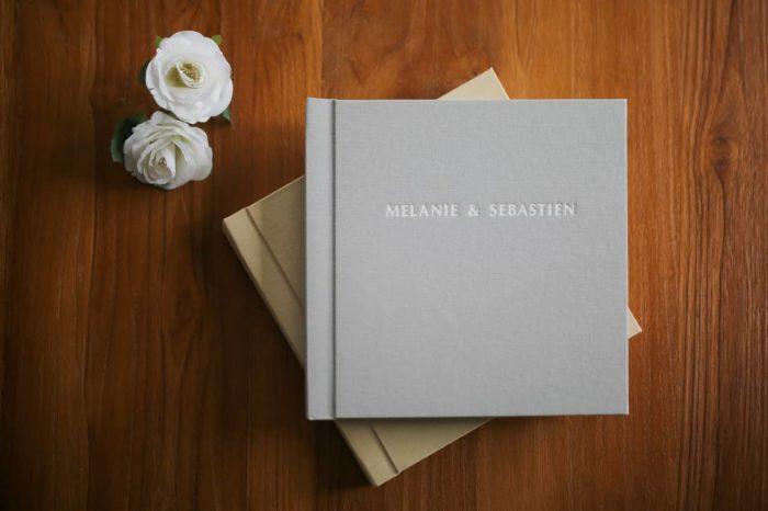 livres photos couverture en lin