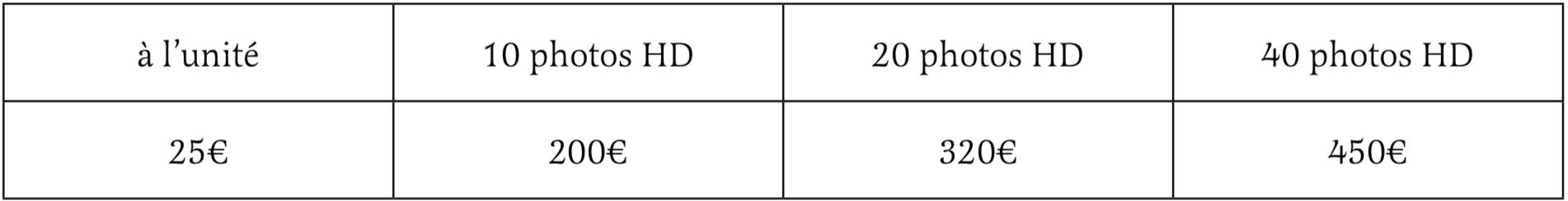 tarif fichier HD