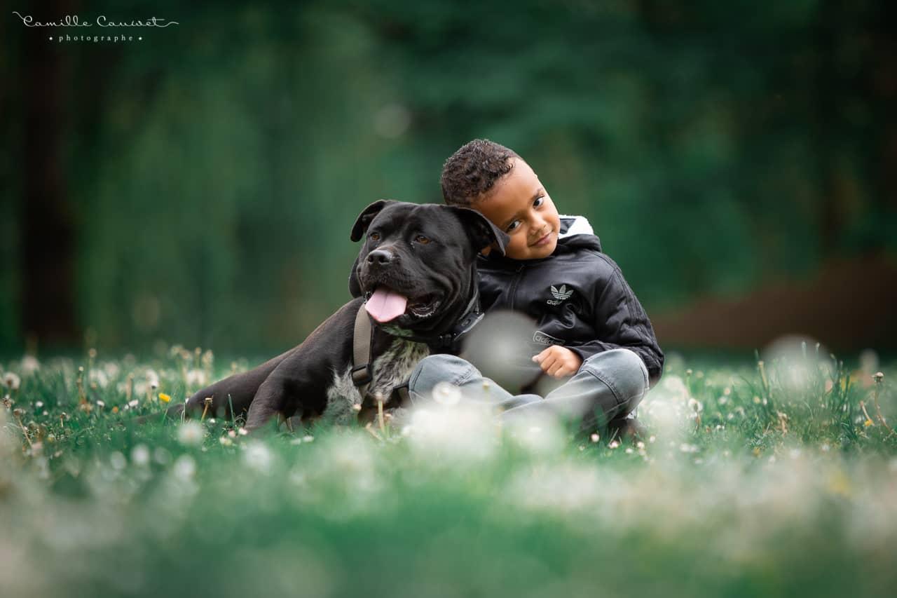shooting chien enfant