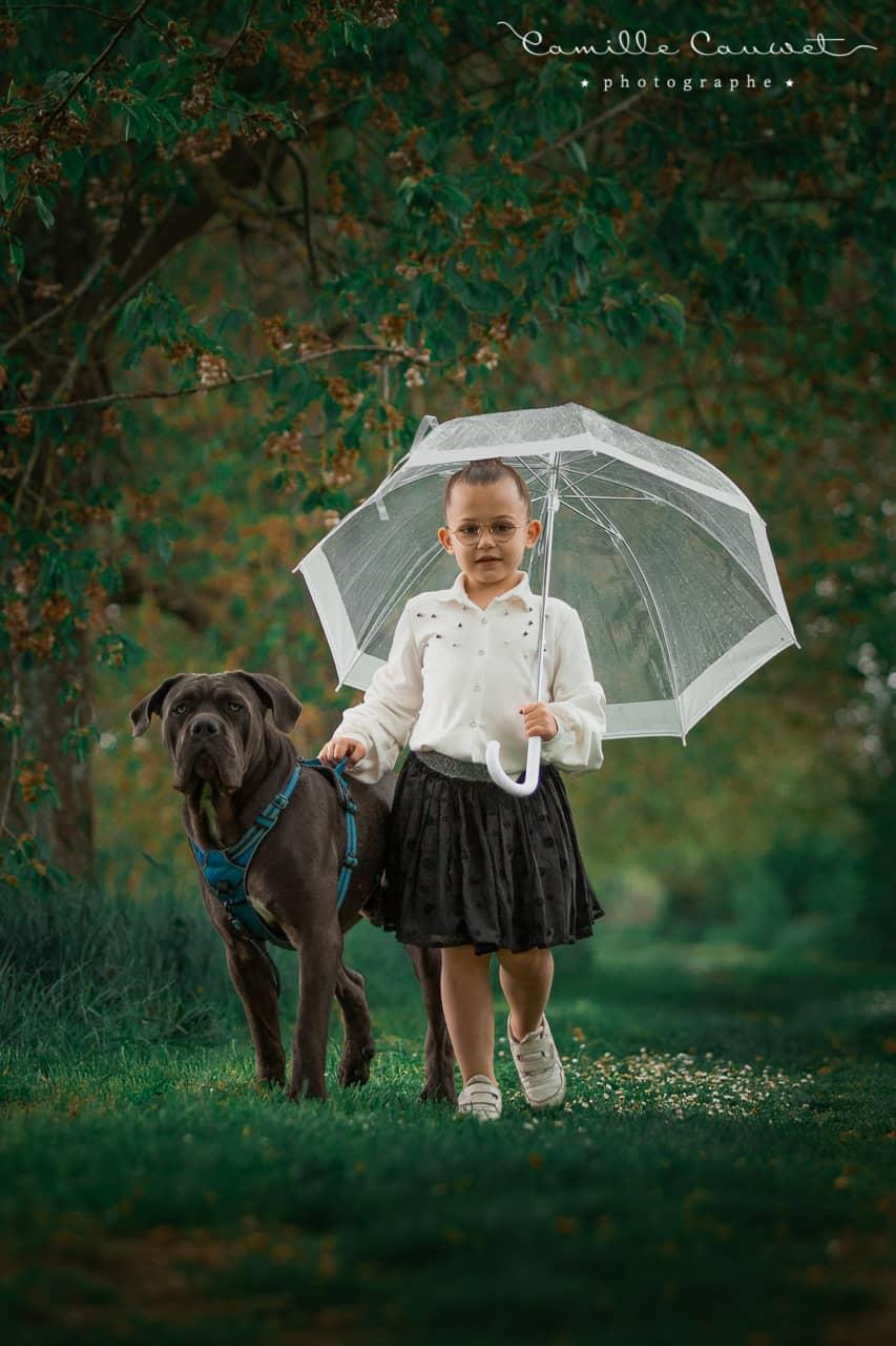 shooting animal et enfant