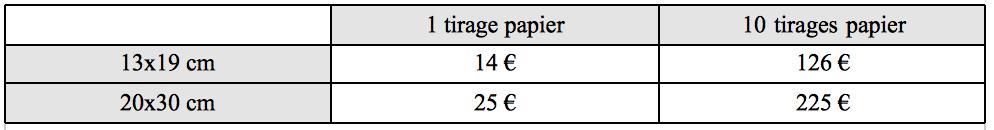 tarif tirage papier camille cauwet photographe